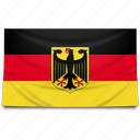 europe, flag, germany icon
