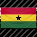 africa, flag, ghana icon