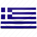 europe, flag, greece icon