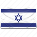 europe, flag, israel icon