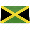 flag, jamaica, north america icon