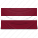 europe, flag, latvia icon
