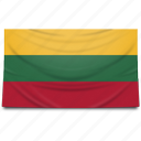 europe, flag, lithuania icon