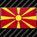 europe, flag, macedonia icon