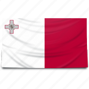 europe, flag, malta icon