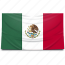 flag, mexico, north america icon
