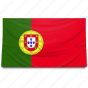 europe, flag, portugal icon