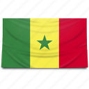 africa, flag, senegal icon