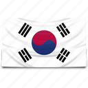 asia, flag, korea, south icon