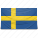 europe, flag, sweden icon