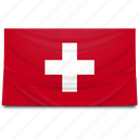 europe, flag, switzerland icon