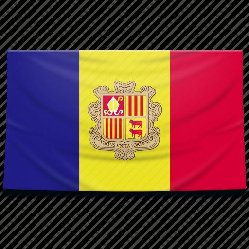 andorra, europe, flag icon