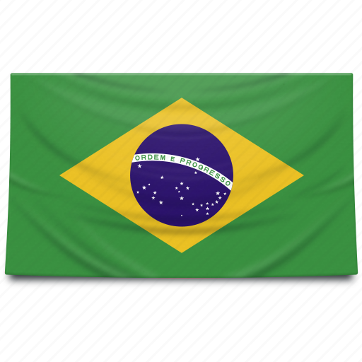 brazil, flag, south africa icon
