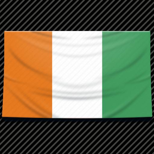 africa, cote, divoire, flag icon
