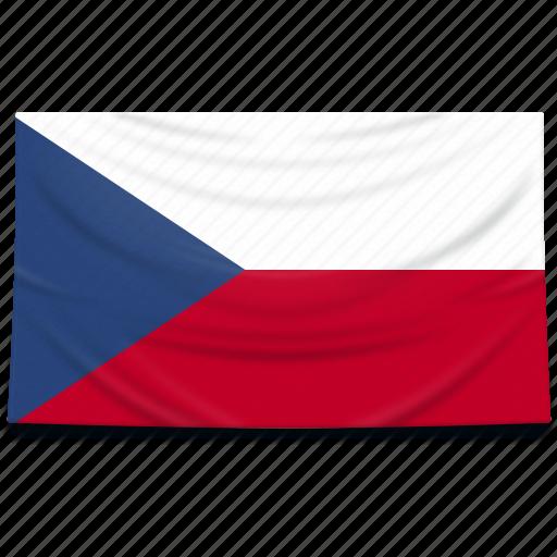 czech, europe, flag, republic icon