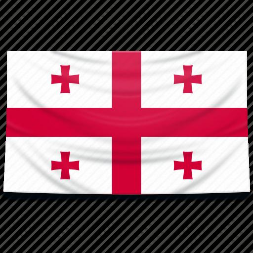 europe, flag, georgia icon