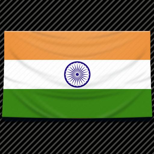 asia, flag, india icon
