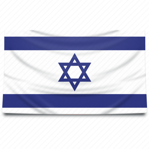 europe, flag, israel icon
