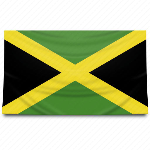 flag, jamaica, north america icon