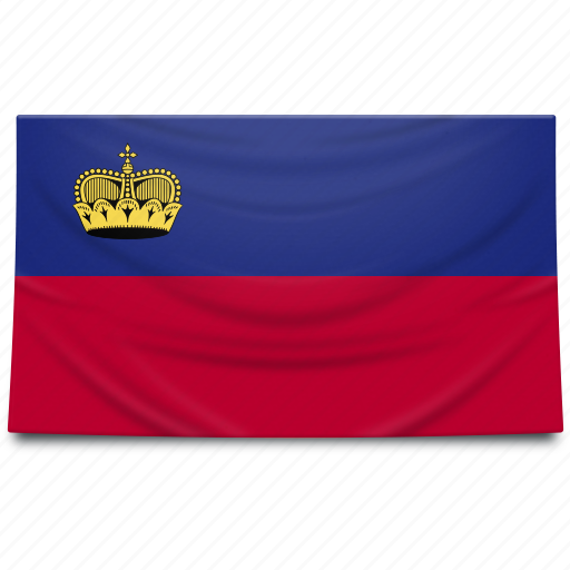 europe, flag, liechtenstein icon