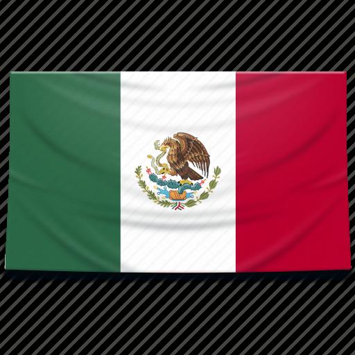flag, mexico, north america icon