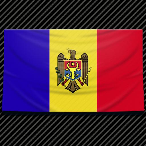 europe, flag, moldova icon