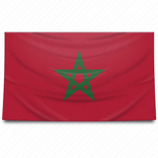 africa, flag, morocco icon