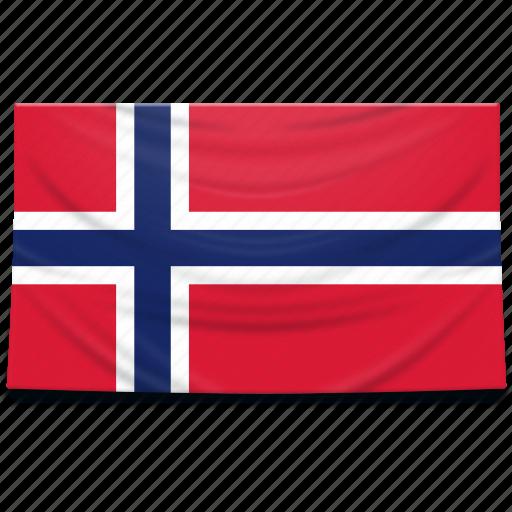 europe, flag, norway icon