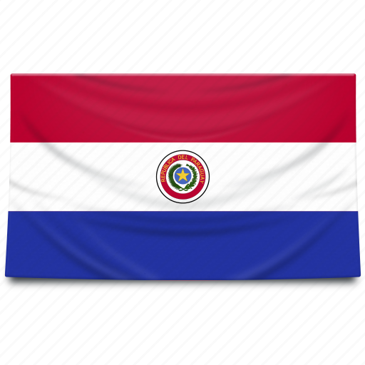 flag, paraguay, south america icon