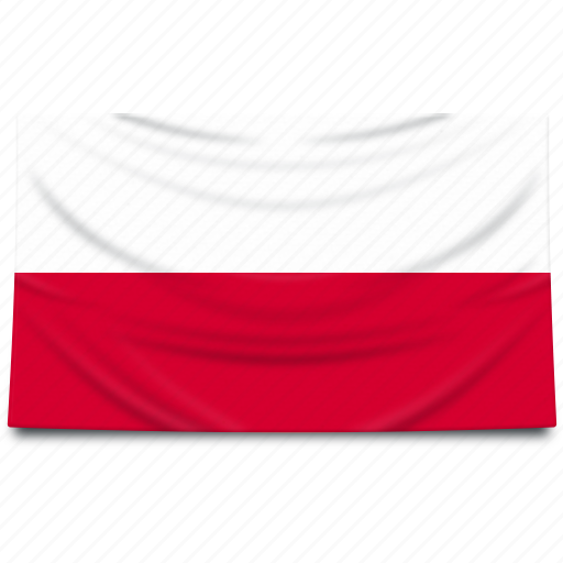 europe, flag, poland icon