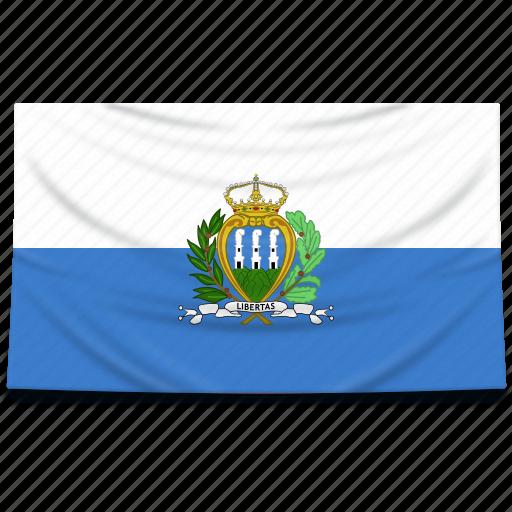 europe, flag, marino, san icon