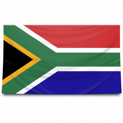 africa, flag, south, south africa icon