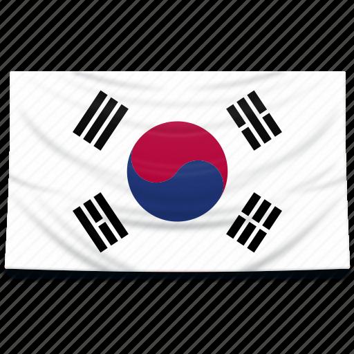 asia, flag, korea, south icon