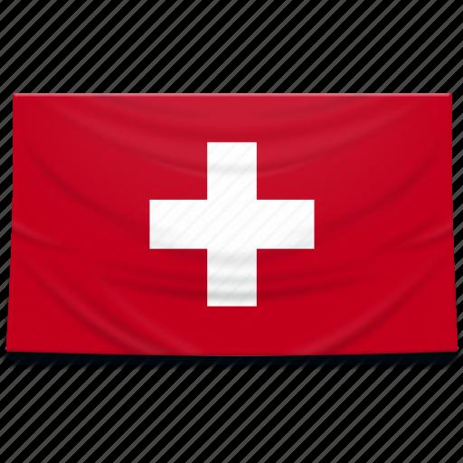 europe, flag, switzerland icon