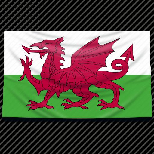 europe, flag, uk, united kingdom, wales icon