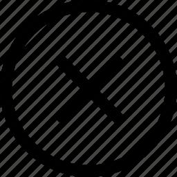 circle, delete, x icon