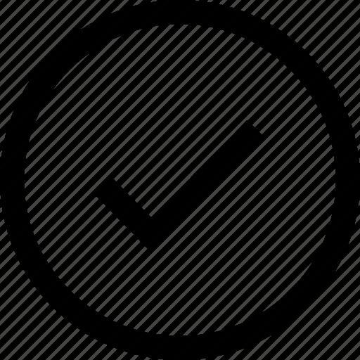 check, circle icon