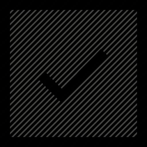 check, square icon