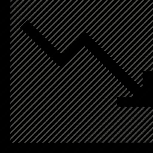 chart, diagram, loss, statistics icon