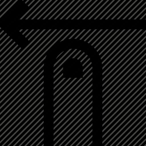 direction, gesture, left, swipe icon