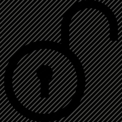 lock, opened icon