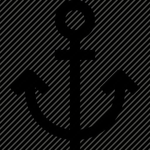 anchor, boat, sail, sea, ship icon