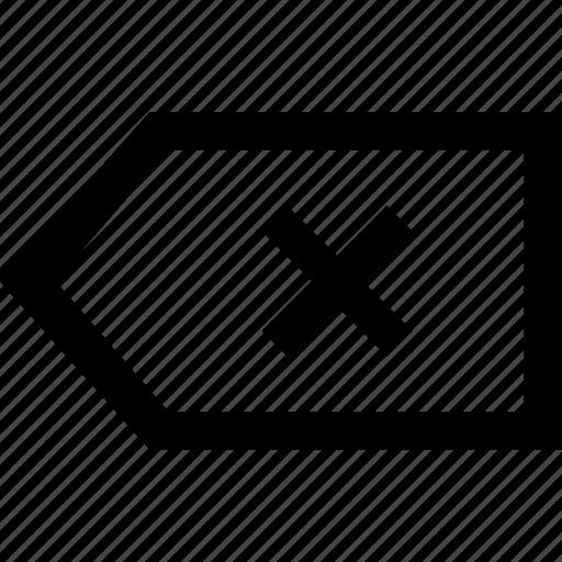 backspace, key icon
