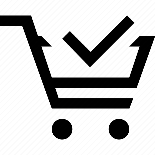 cart, check, e commerce, shopping icon