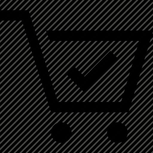 cart, check, e commerce, shopping icon