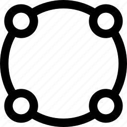 circular, link, network icon