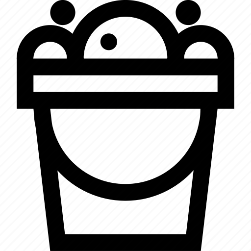 bucket, cleaning icon