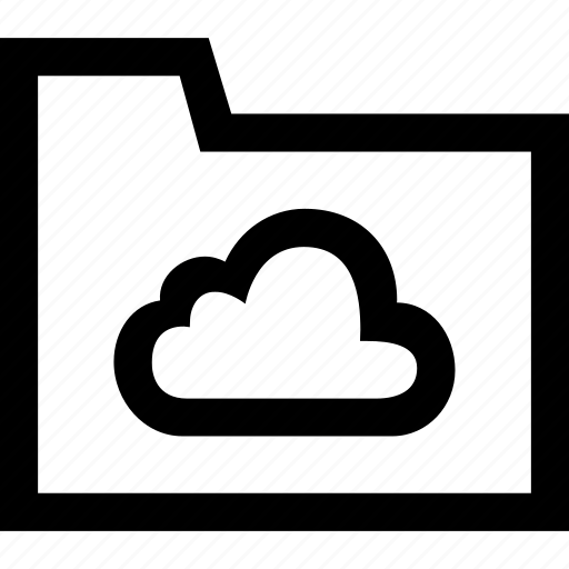 cloud, folder icon
