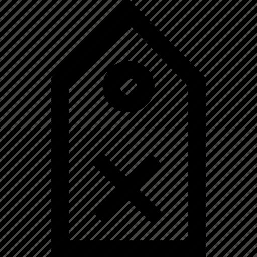 delete, price, remove, tag icon