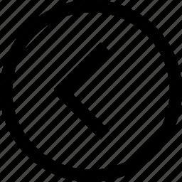 direction, left icon
